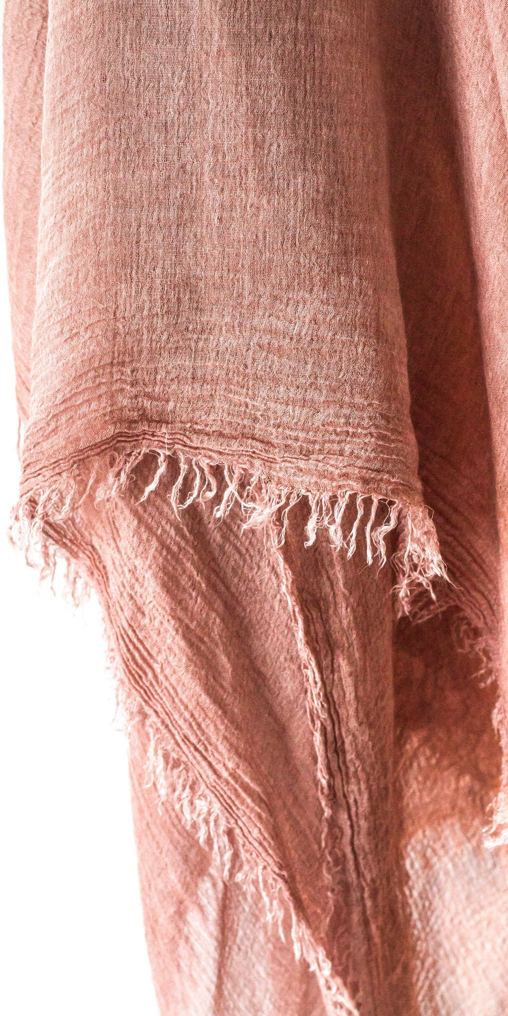 Cold Dyed Frayed Shawl