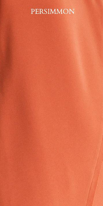 Drappo Lean Dress in Persimmon