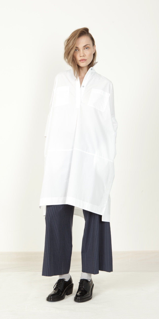 Néhmo Shirtdress in Typhoon Stripe