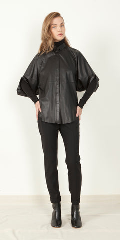 Crescent Leather Shirt