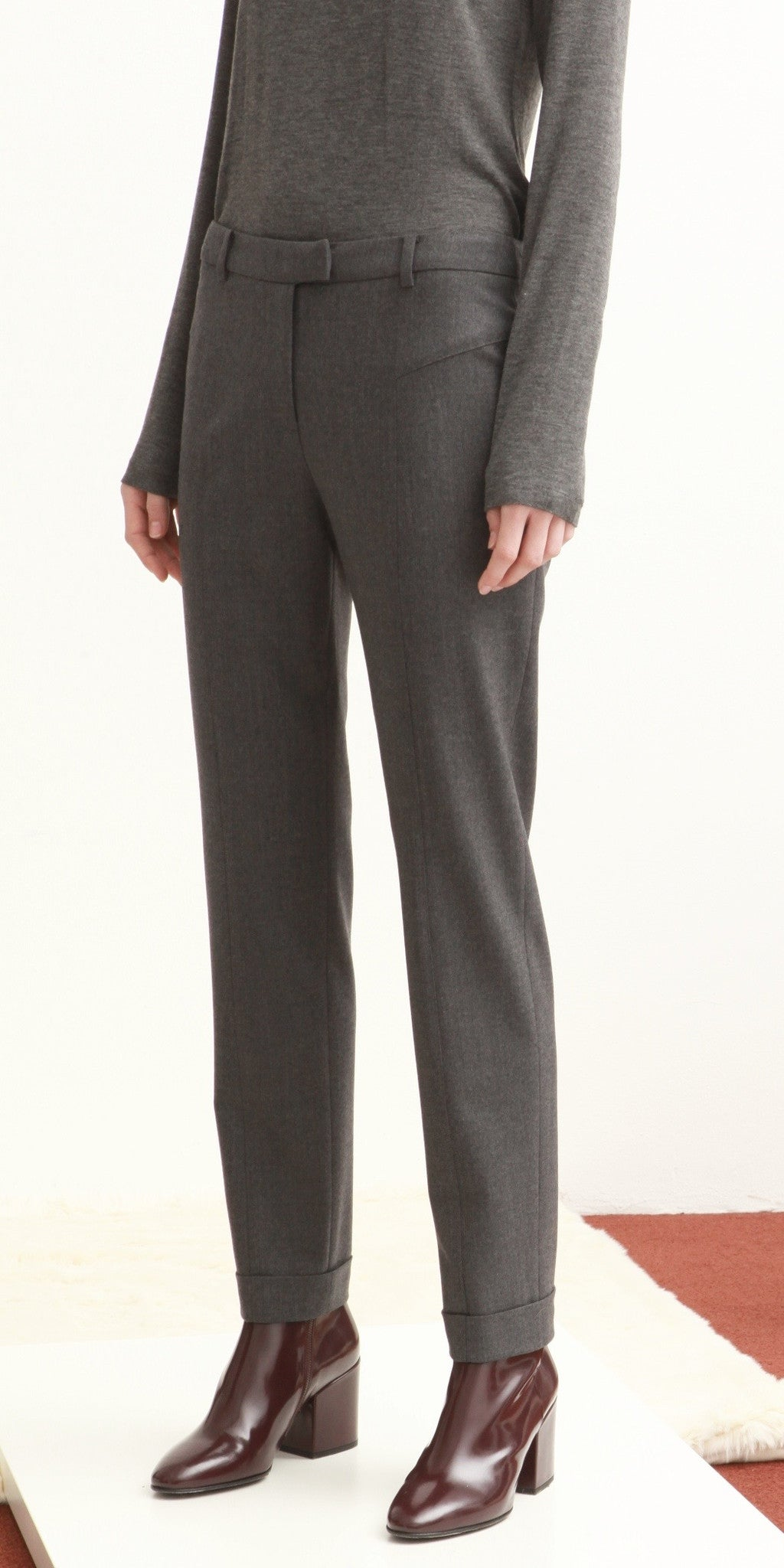 Cuffed Ankle Trouser