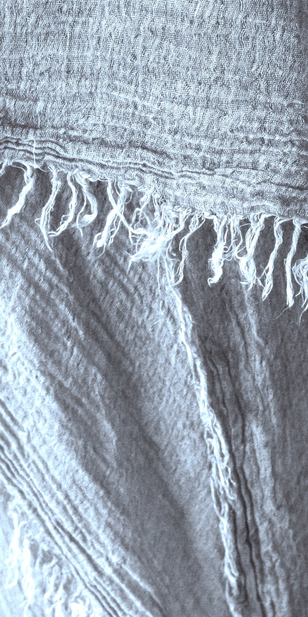 Cold Dyed Frayed Shawl in Sky