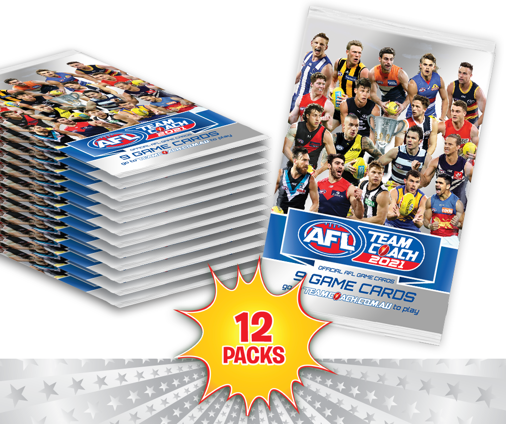 AFL Teamcoach 2021 Game Card Packs - 12 Packs