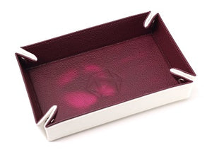 Folding Heat Change Tray with Pink/Cream Velvet
