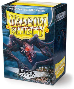 Dragon Shield Standard Sleeve Matte 100CT Black