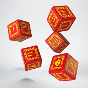 Battle Dice : Orc D6 Set Red/Yellow