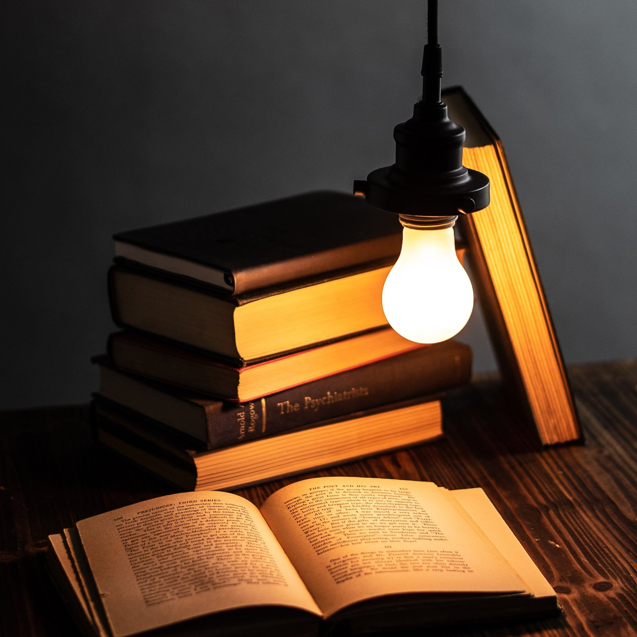 Bedtime Bulb NZ over books.