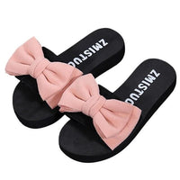 Bow tie slippers for women - 24/7 Addiction