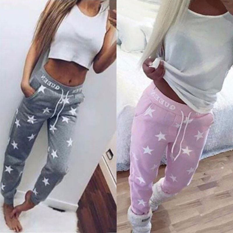 Fashion Star Printed Queen Sweatpants