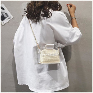 Gold chain cute shoulder bag/handbag