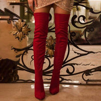 High Heel Fashion Boots - Red / US Size 9 / United States