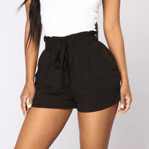 High waist string shorts