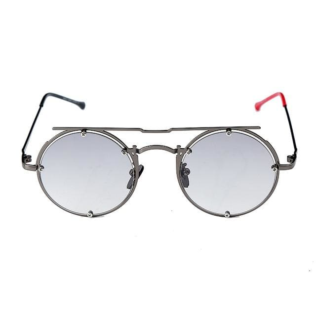 Round Oval UV-400 Sunglasses - 2 / United States