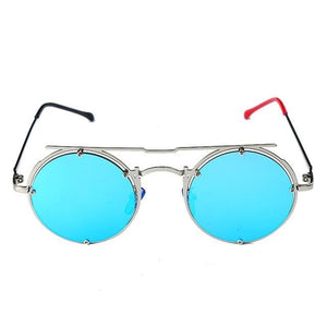 Round Oval UV-400 Sunglasses - 3 / United States