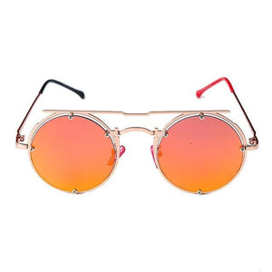 Round Oval UV-400 Sunglasses - 4 / United States