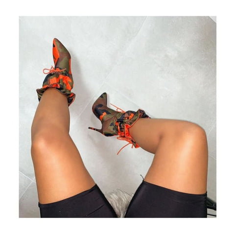 Season Stilettos boots - Orange / U.S 5.5