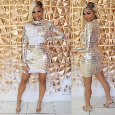 Sequined New Years Mini Dress