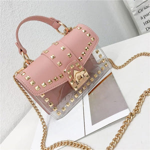 Small clear shoulder Chain bags