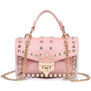 Small clear shoulder Chain bags - Pink / United States