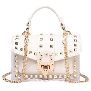 Small clear shoulder Chain bags - White / United States