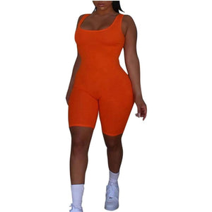Summer Playsuit for women - Orange / L / United States