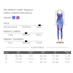 Tie Dye Sleeveless Bodycon Jumpsuit