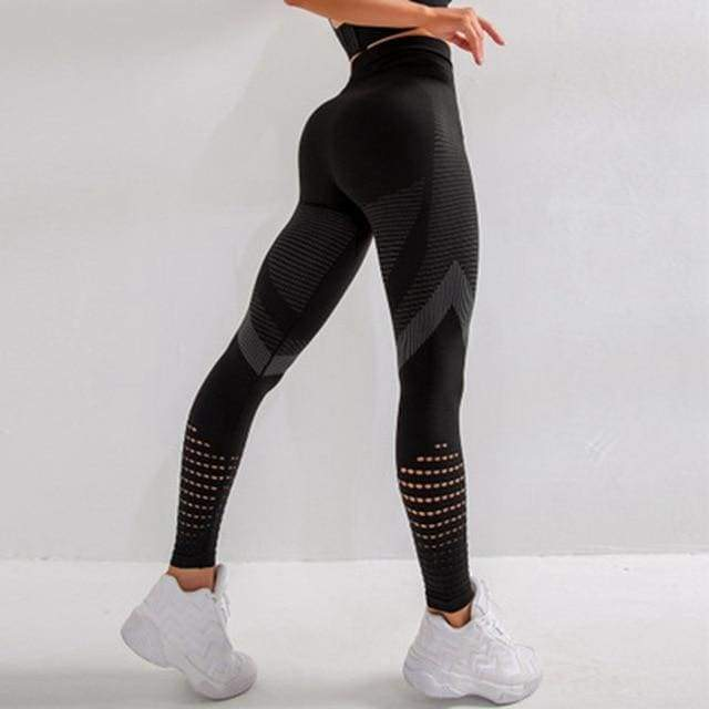 Women Seamless Workout Leggings - Black / L / CHINA