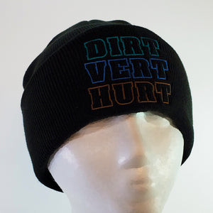 """Dirt Vert Hurt"" Toque (Black)"