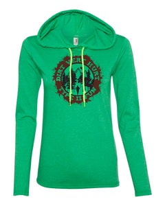 """Type II Fun"" Women's Lightweight Hooded Long Sleeve T"
