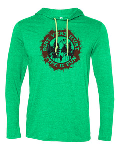 """Type II Fun"" Men's Lightweight Hooded Long Sleeve T"