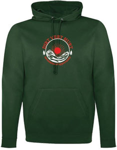 Men's 'Forest Green' Fleece Hooded Sweatshirt