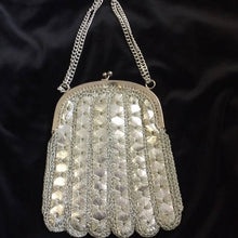 Load image into Gallery viewer, Silver Vintage Purse