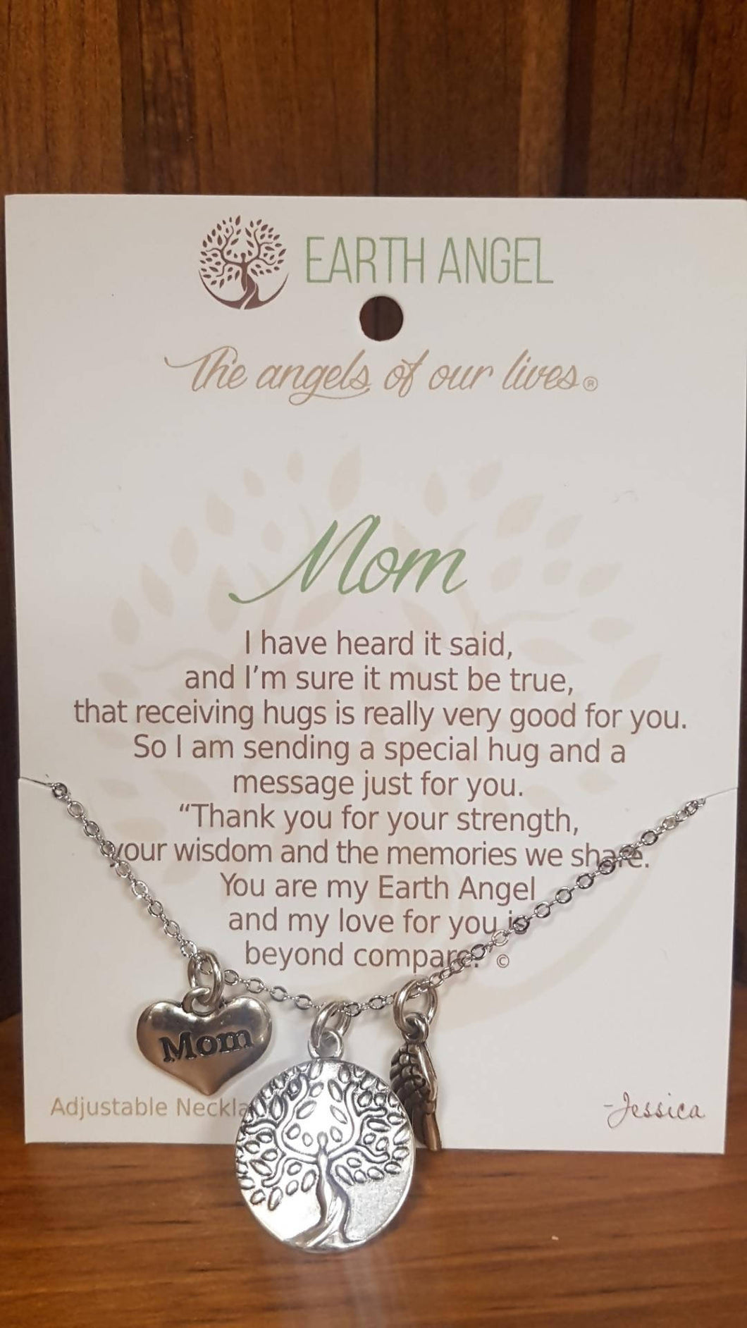 Earth Angel Necklace Antique Silver ( Mother's day Gift )