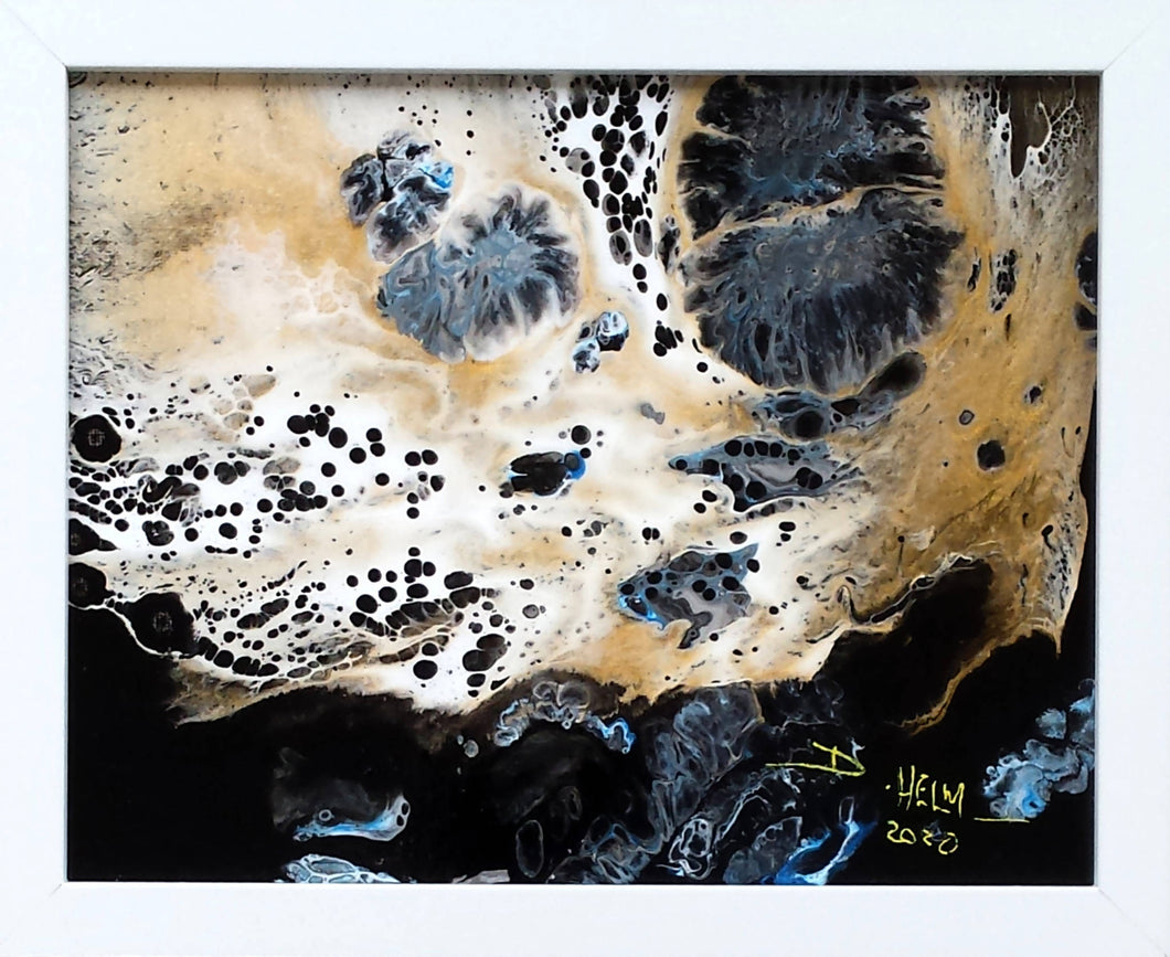 Deborah Helm, My Little Creatures #6 - (Acrylic resin pour) 7