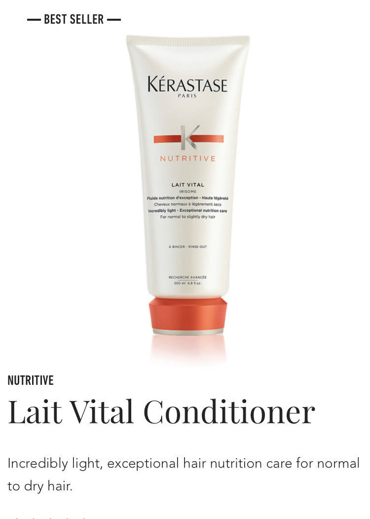 Kerastase Lait Vital conditioner for slightly dry, sensitized hair