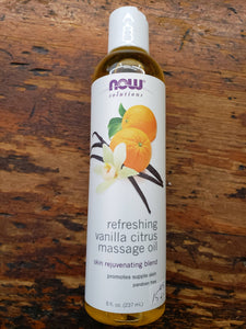 Refreshing Vanilla Citrus Massage Oil