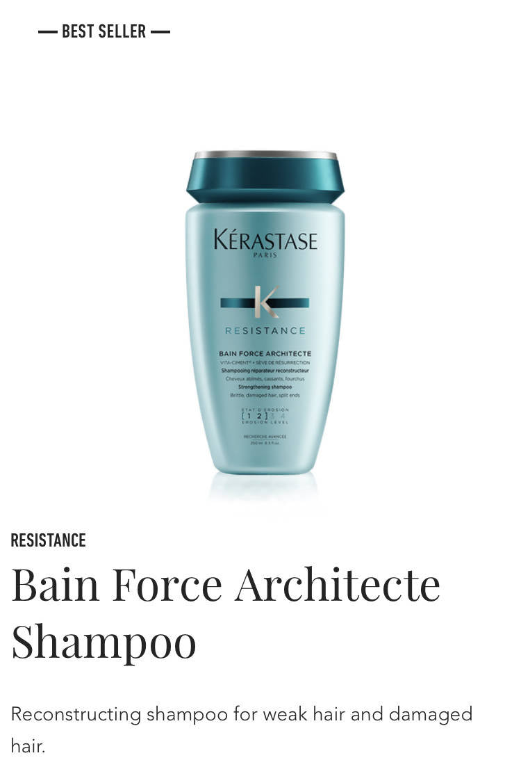 Kerastase Bain de Force Architecte- shampoo for weak, damaged hair