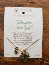 "Load image into Gallery viewer, Earth Angel Necklace ""Febuary"" Antique Gold"