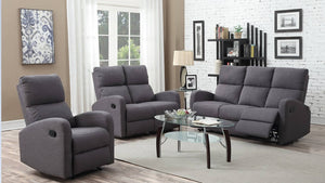 Reno 3 pieces Sofa set with recliners