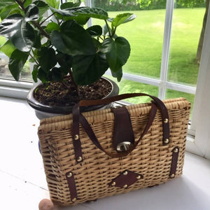 1960's Wicker/Resin Handbag