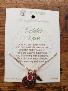 "Earth Angel Necklace ""October"" Antique Copper"