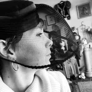 Black Birdcage Veiled Hat