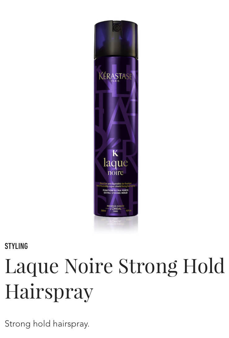 Kerastase Laque Noire firm hold hairspray