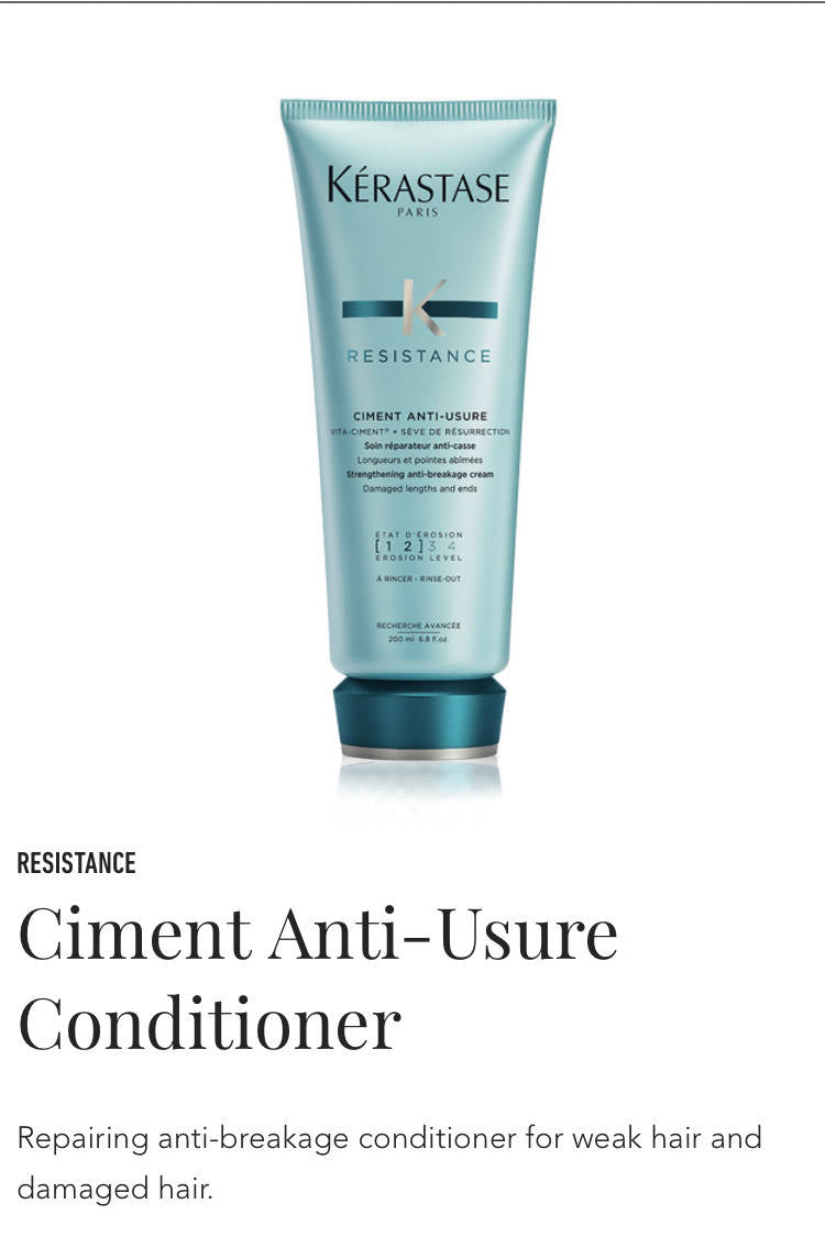 Kerastase Ciment Anti-Usure top seal - conditioner for weak, damaged hair