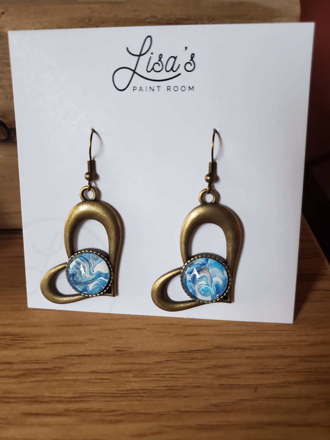 Paint Pour Earrings