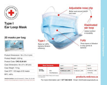 Load image into Gallery viewer, Ear Loop Mask - Bag of 20