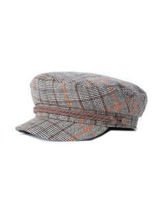 Casquette Fiddler Dark Brown Brixton de face