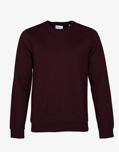 Classic Organic Crewneck Oxblood Red