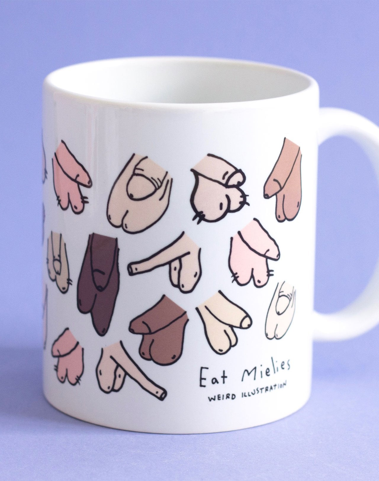 Mug à motifs pénis Willies Eat Mielies