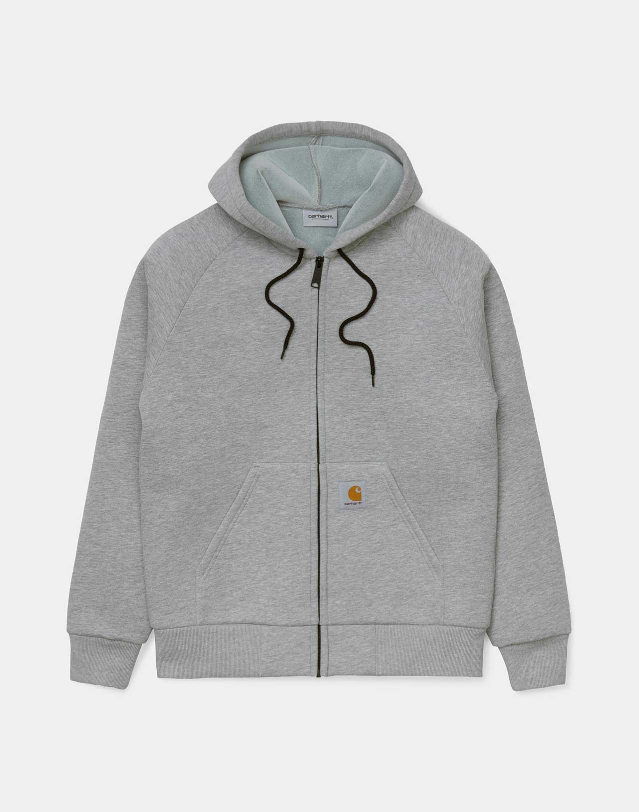 Veste Car Lux hooded Grey Heather Carhartt  grise